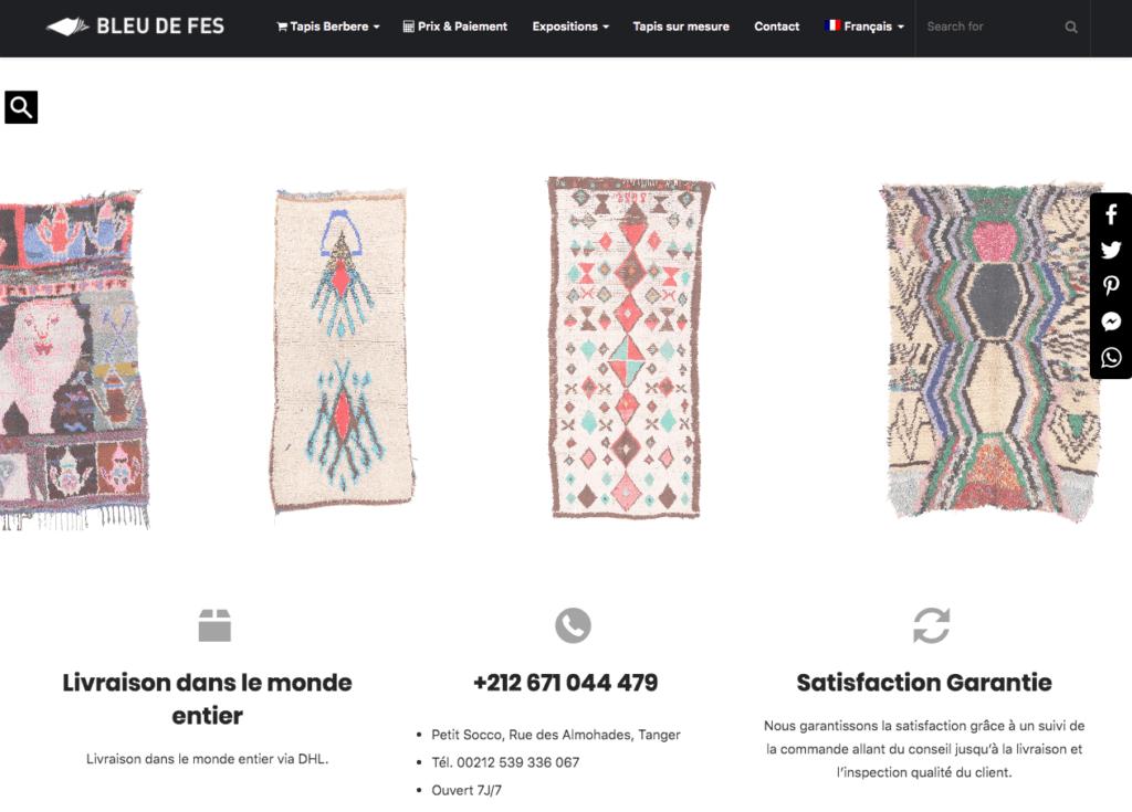 Page d'accueil d'un site e-commerce