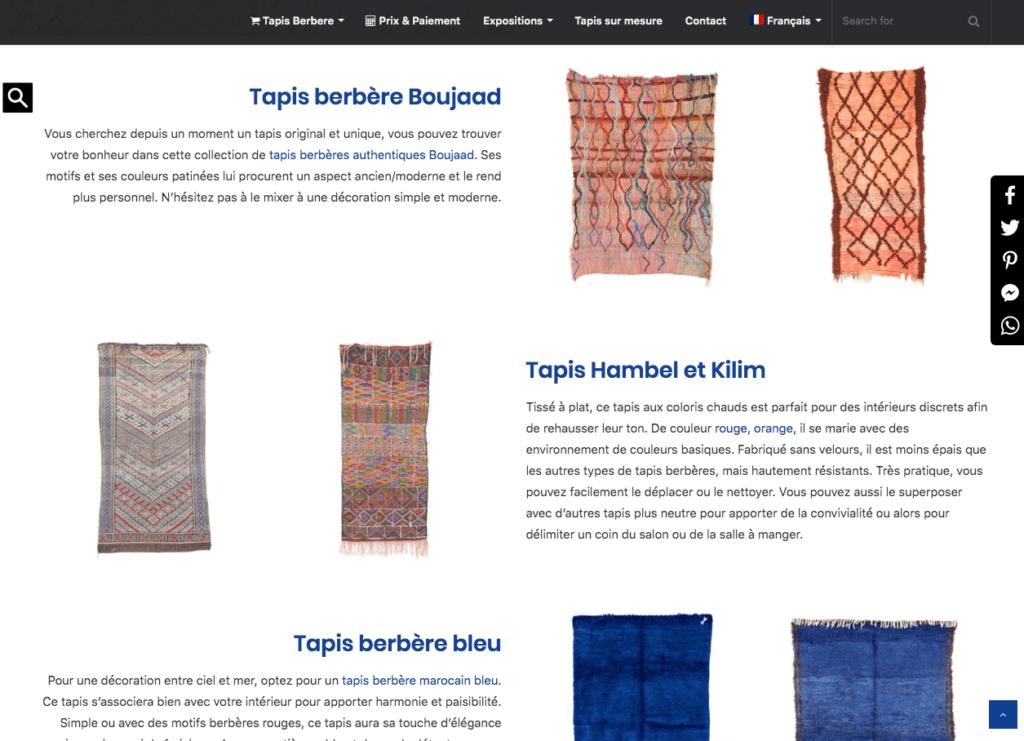 Page d'accueil d'un site e-commerce troisième partie