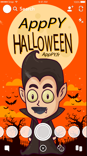 snapcode snapfiltre halloween by apppy