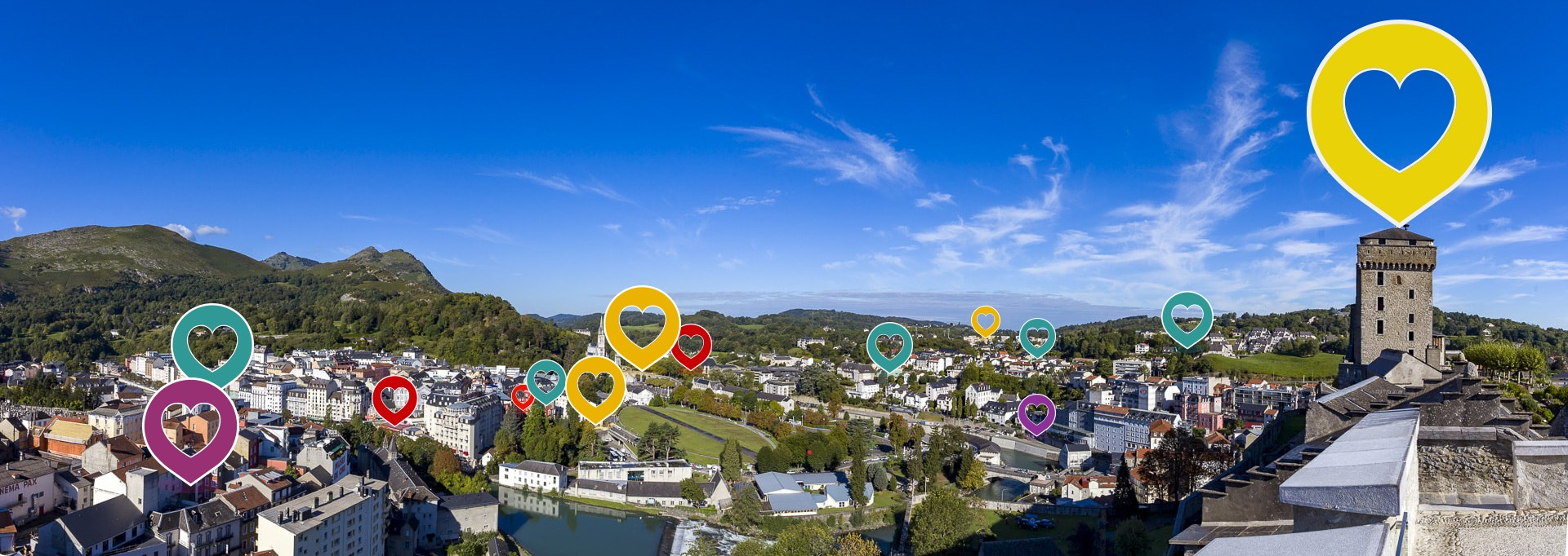 Lourdes top lieux en France et Agence de communication aux pyrénées pour la création de site internet
