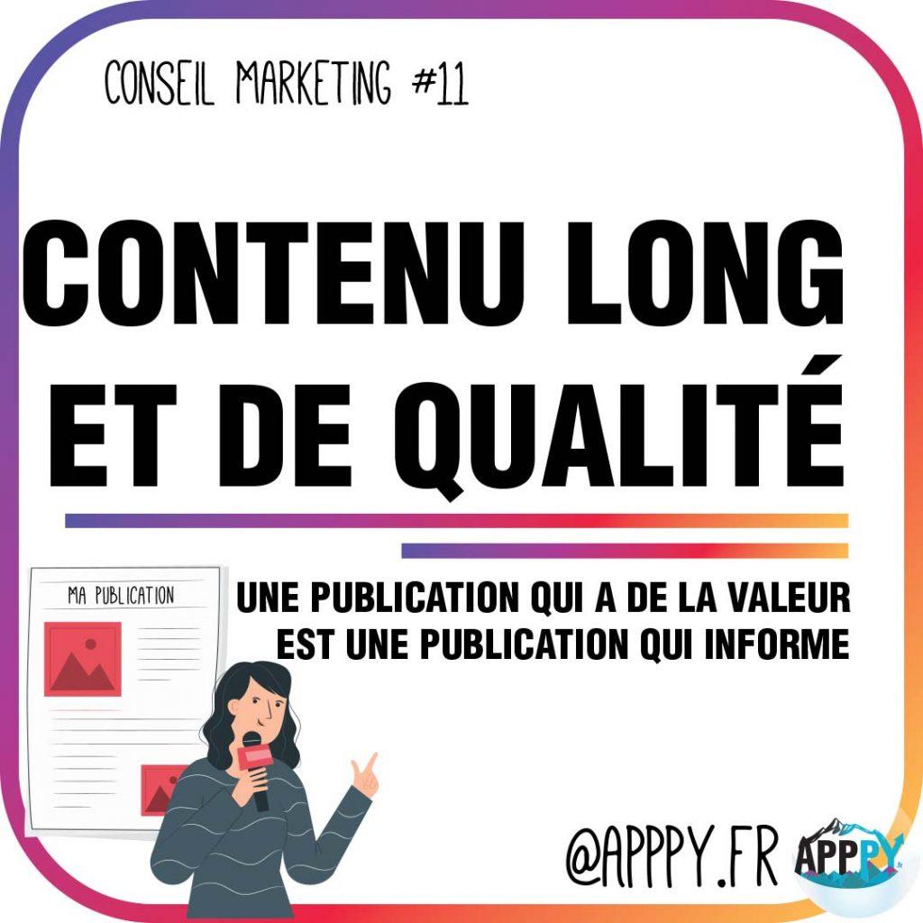 Conseil marketing #11 : Contenu long et de qualité