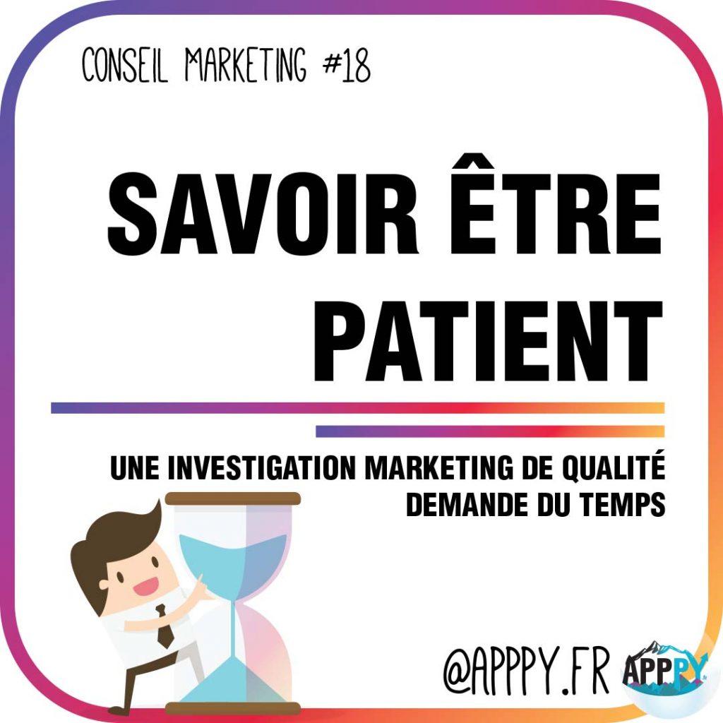 Conseil marketing #18 : Savoir être patient