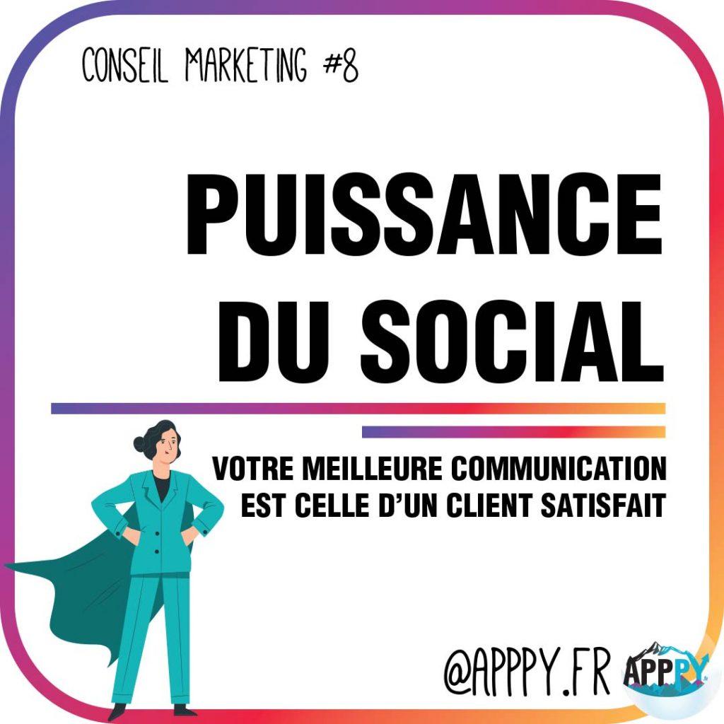 Conseil marketing #8 : Puissance du social