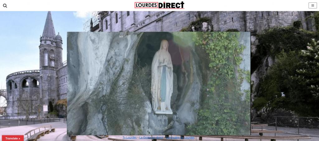 Lourdes.direct propose la TV en direct su Sanctuaire Notre-Dame de Lourdes et de la Grotte de Lourdes